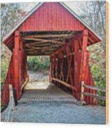 8351- Campbell's Covered Bridge Wood Print