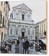 winter in Rome Wood Print