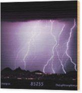 85255 Fine Art Arizona Lightning Photo Poster Wood Print