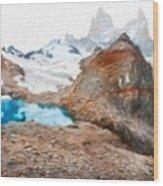 Nature Oil Painting Landscape Wood Print
