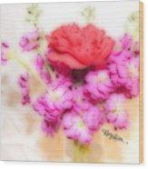 #8742 Soft Flowers Wood Print
