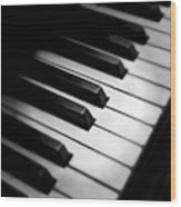 88 Keys To The Heart Wood Print