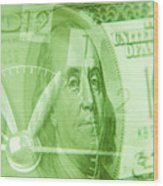 Time Is Money 17 Wood Print