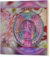 #8913_444 Angels Are Present 2 Wood Print