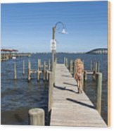 Indian River Lagoon At Eau Gallie In Florida Usa Wood Print