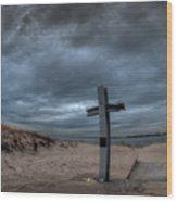 9/11 Memorial In Breezy Point New York Wood Print