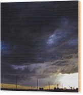 2nd Storm Chase 2015 Wood Print