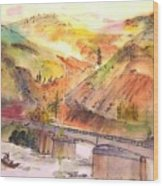 A Trip To Lewiston  In Autumn Album Wood Print