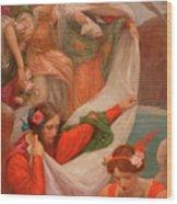 Angels Descending Wood Print