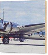 B-17 Bomber Parking Wood Print