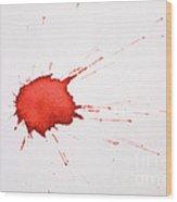 Blood Droplet Wood Print