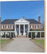 The Main House At Boone Hall Wood Print