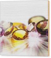 Colorful Gems Wood Print