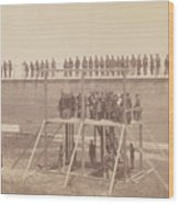 Execution Of The Conspirators Wood Print