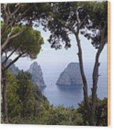 Faraglioni - Capri Wood Print