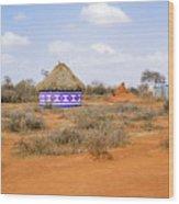 Farmland Landscape In Ethiopia Wood Print