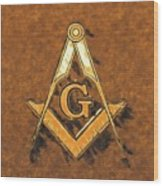 Freemason, Mason, Masonic Symbolism Wood Print