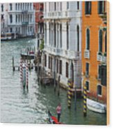 Gondola, Canals Of Venice, Italy Wood Print