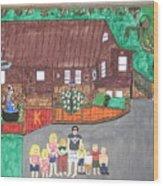 9 Grand Kids Wood Print