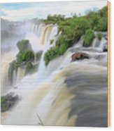 Iguazu Waterfalls Wood Print