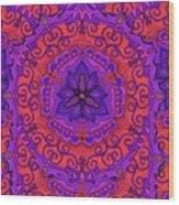 Indian Fabric Pattern Wood Print