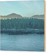 Inside Passage Mountain Views Around Ketchikan Alaska Wood Print