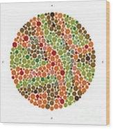 Ishihara Color Blindness Test Wood Print