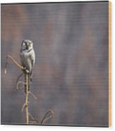 9 Wood Print