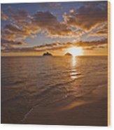 Lanikai Sunrise Wood Print