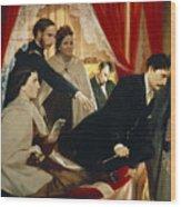 Lincoln Assassination Wood Print