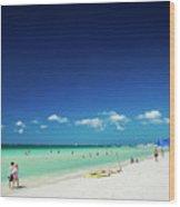 Main Beach Of Tropical Paradise Boracay Island Philippines Wood Print