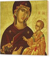 Mary Saint Religious Art Wood Print