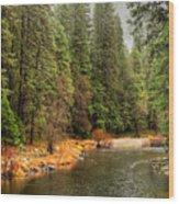 Merced River Yosemite Valley Wood Print
