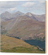Mount Bierstadt In The Arapahoe National Forest Wood Print