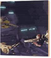 Movie Star Wars Poster Wood Print