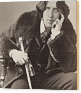 Oscar Wilde (1854-1900) Wood Print by Granger
