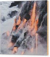 Pahoehoe Lava Flow Wood Print