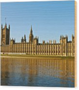 Palace Of Westminster, Houses Of Parliament, And Big Ben Wood Print