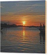 9- Sailfish Marina Wood Print
