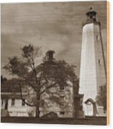 Sandy Hook Lighthouse Nj  Wood Print