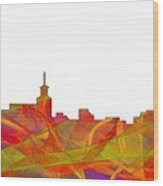 Santa Fe New Mexico Skyline Wood Print