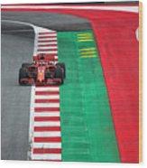 Sebastian Vettel Ferrari  Wood Print