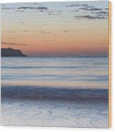 Soft Sunrise Seascape Wood Print