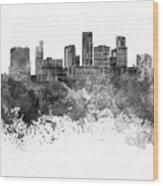 St. Paul Skyline In Watercolor Background Wood Print