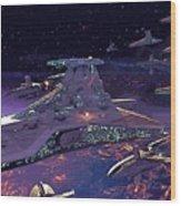 Star Wars 3 Poster Wood Print
