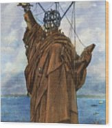 Statue Of Liberty 1886 Wood Print