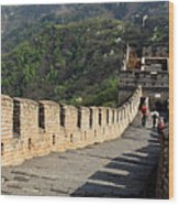 The Mutianyu Section Of The Great Wall Of China, Mutianyu Valley Wood Print