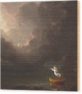 The Voyage Of Life Old Age Wood Print