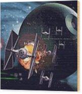 Trilogy Star Wars Art Wood Print