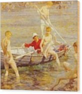 Tuke Henry Scott Ruby Gold And Malachite Henry Scott Tuke Wood Print